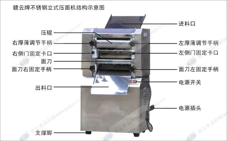 不锈钢立式压面机结构示意图